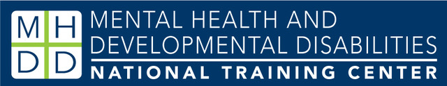 Logo for the Mental Health and Developmental Disabilities National Training Center