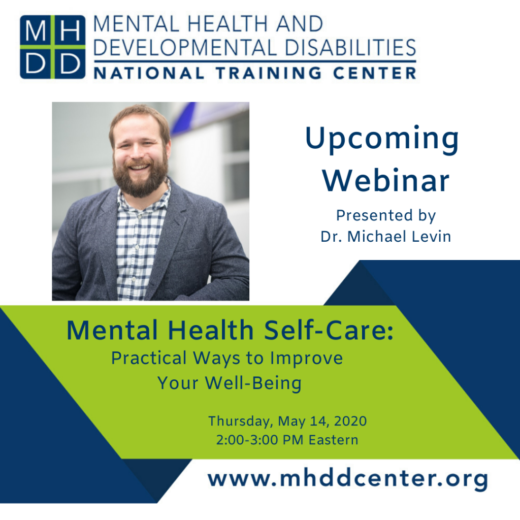 Mental Health Self-Care Webinar with Dr. Michael Levin